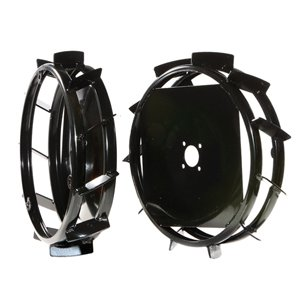 Pair of metal wheels Ø 480x100 mm