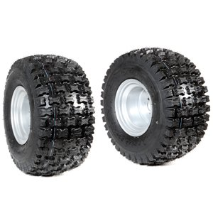 Pair of tyred wheels 18-9.50/8 - Fixed disc