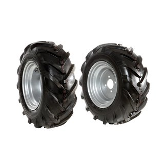 Pair of tyred wheels 16-6.50/8 - Fixed disc