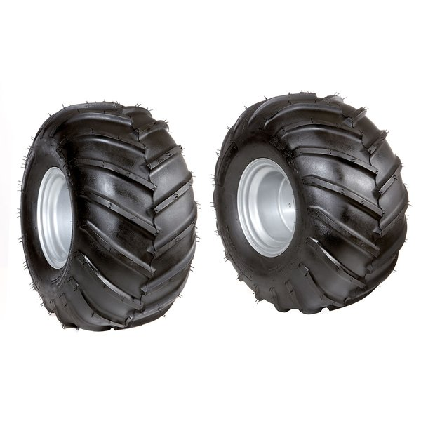 Pair of tyred wheels 21-11.00/8""