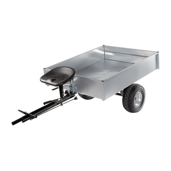 Towed trailer with handlebar steering