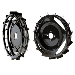 Pair of metal wheels 410x60