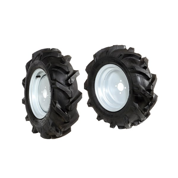 Pair of tyred wheels 4.00x10 - Fixed disc - 6920 0024A
