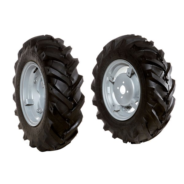 Pair of tyred wheels 6.5/ 80x15""